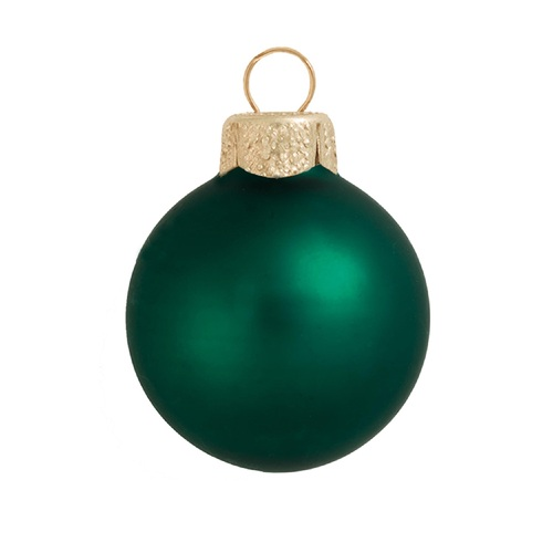 "2ct Matte Emerald Green Glass Ball Christmas Ornaments 6"" (150mm) - 30940104"