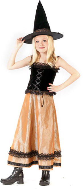 Elegant Witch Girl's Halloween Costume Size Small (4-6) #5929 - 6367409