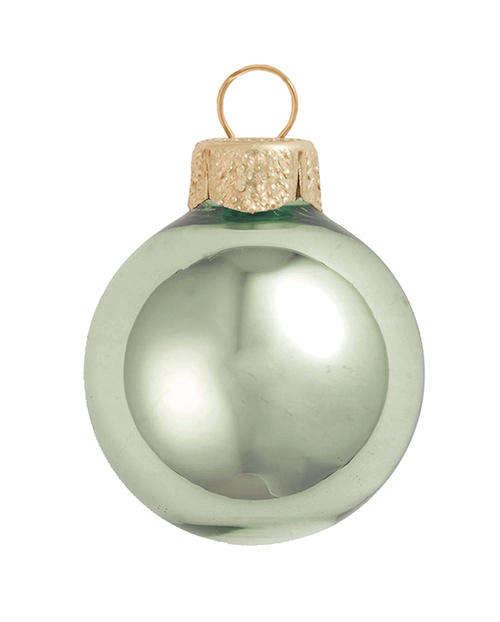 "4ct Shiny Shale Green Glass Ball Christmas Ornaments 4.75"" (120mm) - 30940065"