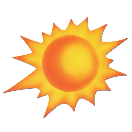 """Club Pack of 12 Bright Cheery Sun Cutout Decorations 24"""" - 31561467"""