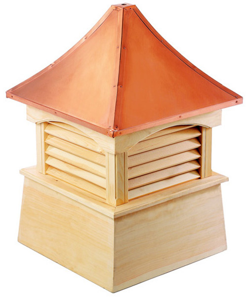 """29"""" Handcrafted """"Waterford"""" Copper Roof Wood Cupola - 9449882"""