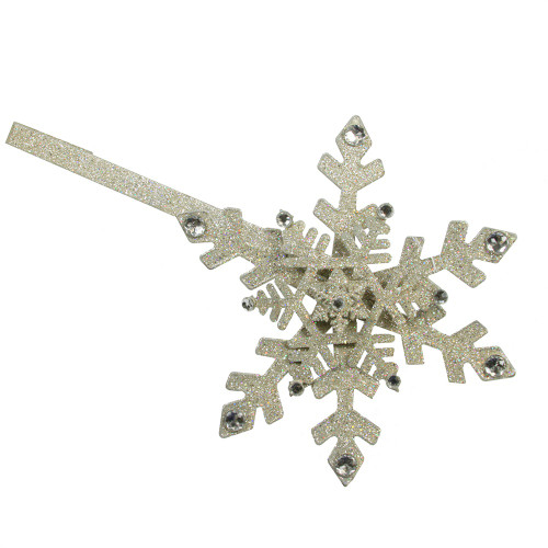 """17"""" Shimmering Glitter Drenched Gold Snowflake Christmas Wreath Door Hanger - 31457005"""