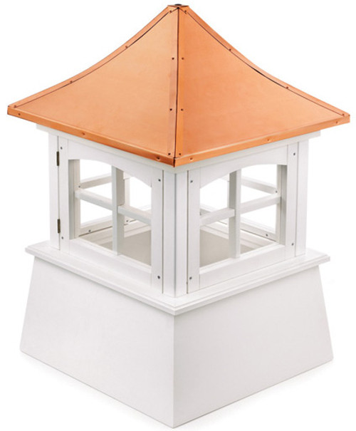 "38"" Handcrafted ""Milford"" Copper Roof Vinyl Cupola - 9449904"
