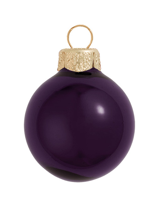 "Shiny Purple Glass Ball Christmas Ornament 7"" (180mm) - 30939171"