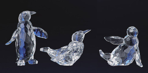 """Club Pack of 12 Icy Crystal Decorative Christmas Penguin Figurines 4"""" - 31002207"""