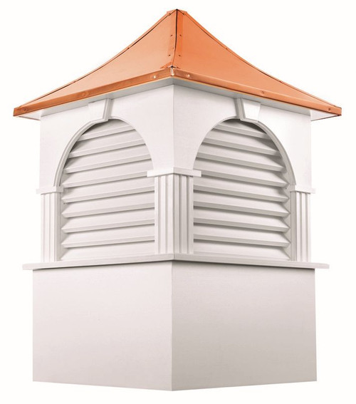 """39"""" Handcrafted """"Concord"""" Copper Roof Vinyl Cupola - 9449896"""