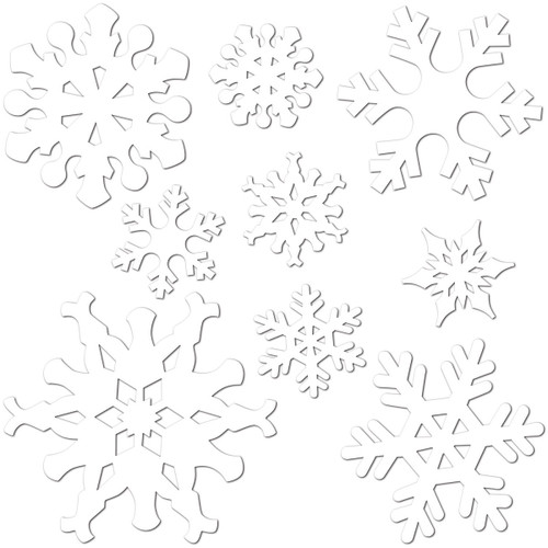 """Club Pack of 216 Snowflake Christmas Party Cutout Decorations 12"""" - 31562827"""