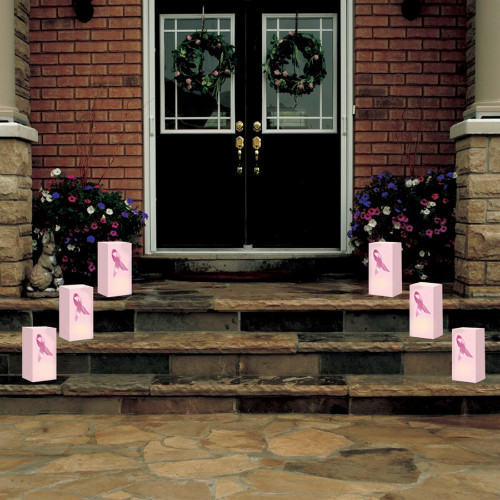 "Club Pack of 24 Breast Cancer Foundation Pink Ribbon Design Luminaria Bags 11"" - 31013247"