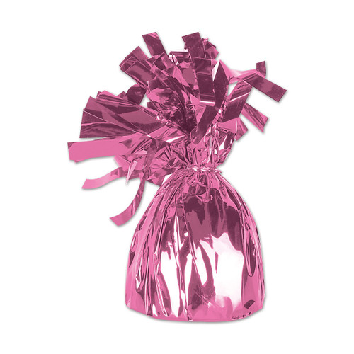 Club Pack of 12 Metallic Pink Party Balloon Weight Decorative Birthday Centerpieces 6 oz. - 31564139