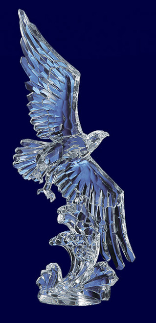 """Pack of 4 Icy Crystal Decorative Flying Hawk Figures 13.8"""" - 31002223"""