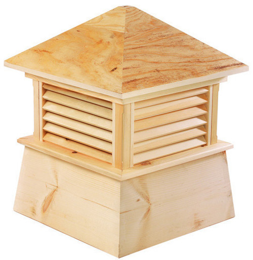 """18"""" Handcrafted """"Mansfield"""" All Cypress Wood Cupola - 9449873"""
