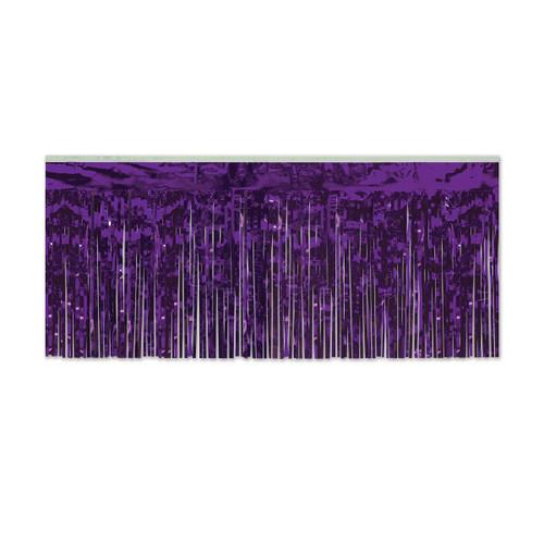 Pack of 6 Purple Hanging Metallic Fringe Drape Decorations 10' - 31559885