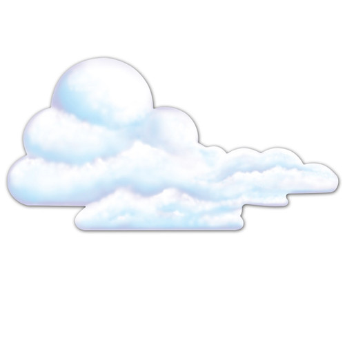 """Club Pack of 12 Fluffy White Cloud Cutout Decorations 29"""" - 31561475"""