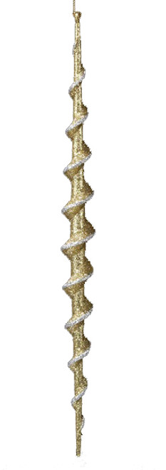 Seasons of Elegance Gold Spiral Icicle Christmas Ornament - 16178534