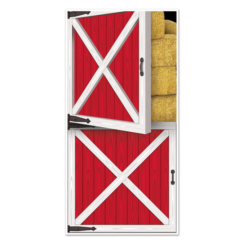Club Pack of 12 Western Themed Barn Door Cover Party Decorations 5' - 31557748