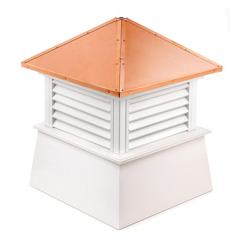 """32"""" Handcrafted """"Manchester"""" Copper Roof Vinyl Cupola - 9449902"""