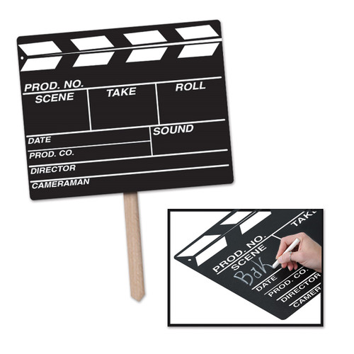 """Pack of 6 Movie Set Chalkboard Clapboard Yard Sign Decorations 24"""" - 31558042"""