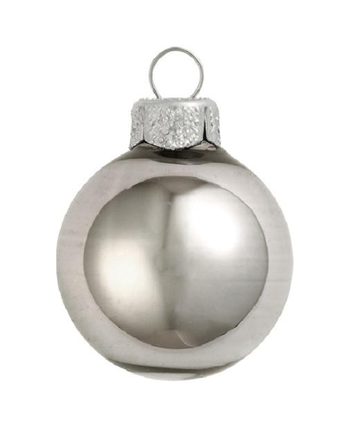 "4ct Shiny Silver Smoke Glass Ball Christmas Ornaments 4.75"" (120mm) - 30940036"