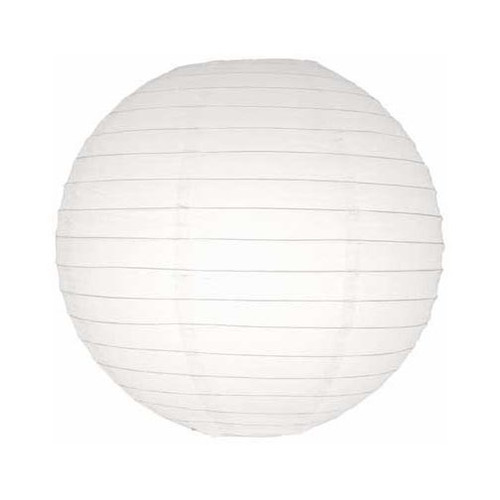 """Pack of 5 Traditional White Garden Patio Round Chinese Paper Lanterns 10"""" - 31013482"""