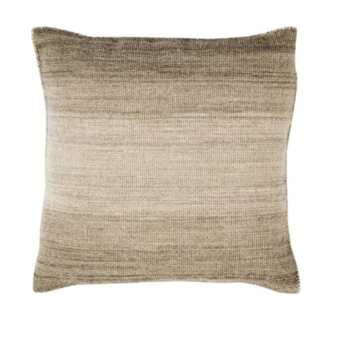 """22"""" Ombre Ambience Coyote Brown, Eggshell and Otter Brown Decorative Throw Pillow - Down Filler - 31504862"""