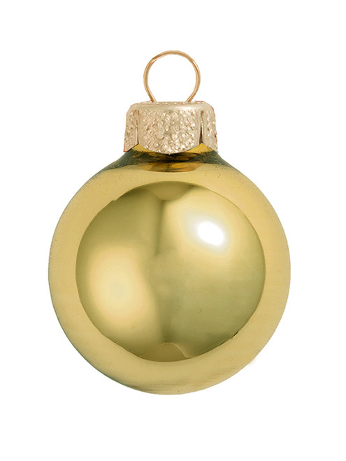 "4ct Shiny Yellow Sun Glass Ball Christmas Ornaments 4.75"" (120mm) - 30940039"