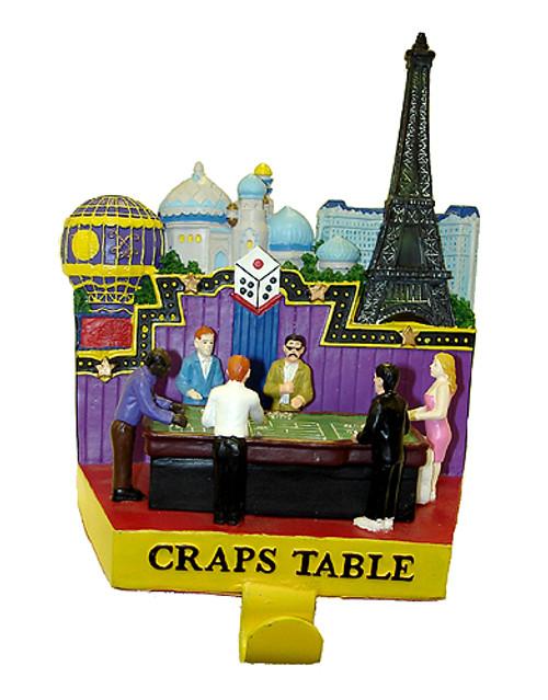 "7.25"" Casino Gambling Craps Table Christmas Stocking Holder - 5777540"