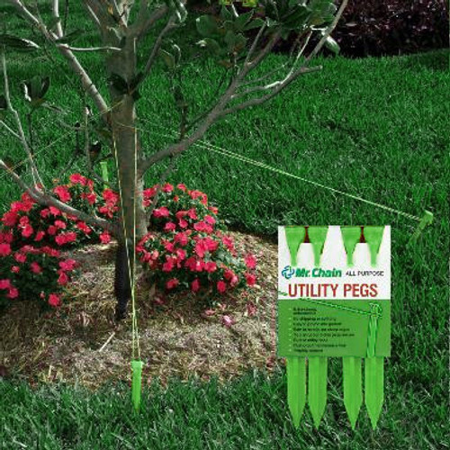 "4ct Heavy Duty Green All Purpose Utility Peg Stakes 9"" - 30889829"