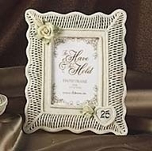 Club Pack of 12 Happy 25th Wedding Anniversary Porcelain Photo Frames #40095 - 6354327