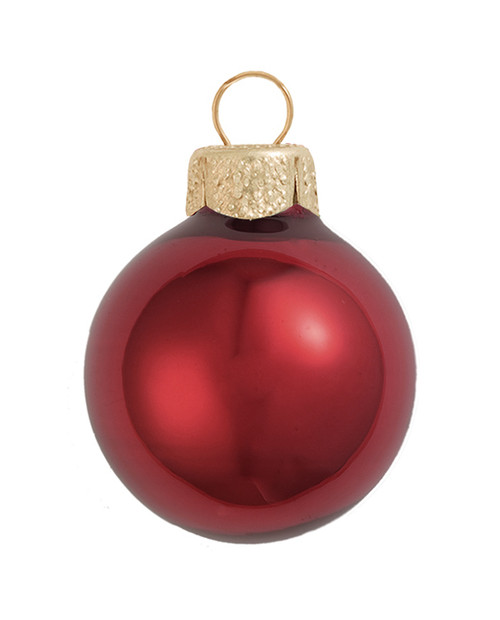 "2ct Pearl Burgundy Red Glass Ball Christmas Ornaments 6"" (150mm) - 30940091"