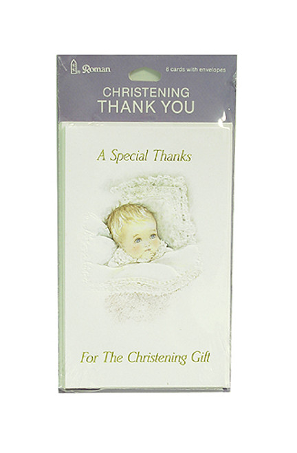 8-Piece Set of Christening Thank-You Cards With Envelopes #95333 - 5243684