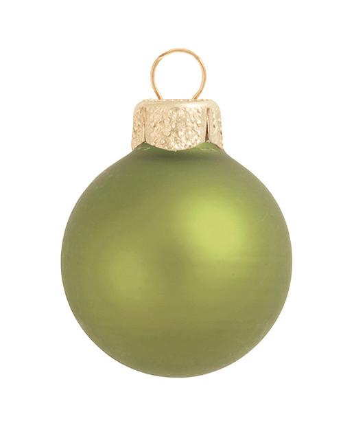 """28ct Matte Light Green Glass Ball Christmas Ornaments 2"""" (50mm) - 30939523"""