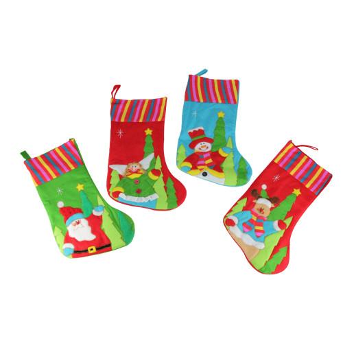 10-Piece Winter Wonderland Christmas Stocking and Novelty Gift Bag Set - 6552199