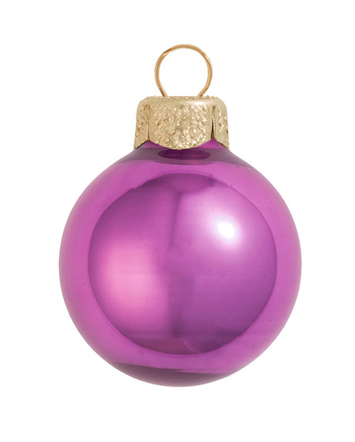 "2ct Pearl Dusty Rose Pink Glass Ball Christmas Ornaments 6"" (150mm) - 30940103"