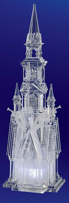 "Pack of 2 Icy Crystal Decorative Religious Four Angel Cathedral Figurines 17.5"" - 31002123"