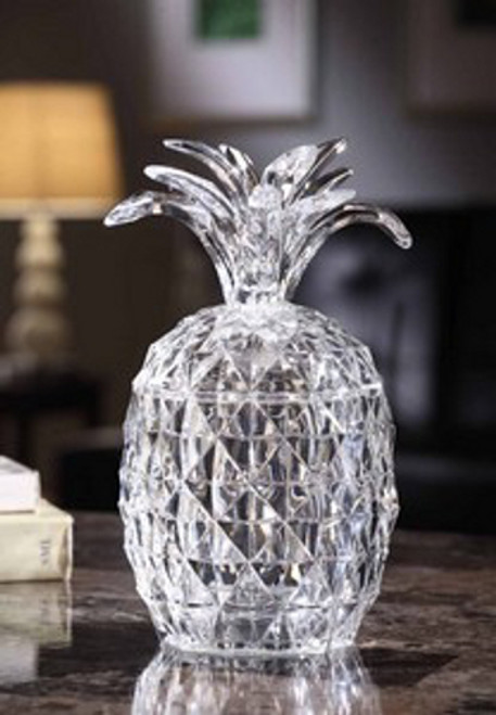"Pack of 2 Icy Crystal Illuminated Decorative Pineapple Candy Jar 9"" - 31002396"