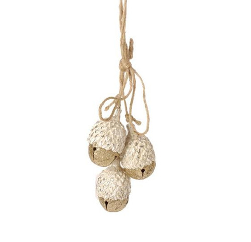 """8"""" Eco Country Gold Jingle Bell Acorns Cluster Christmas Ornament - 31104162"""