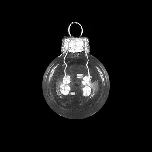 "Shiny Clear Glass Ball Christmas Ornament 7"" (180mm) - 30940218"