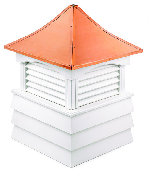 """107"""" Handcrafted """"Hyde Park"""" Copper Roof Vinyl Cupola - 30874445"""