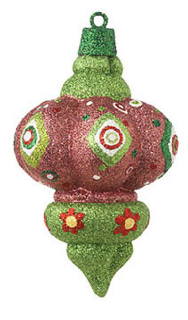 """5"""" Christmas Brites Sparkling Glittered Pink Finial Christmas Ornament - 16470817"""