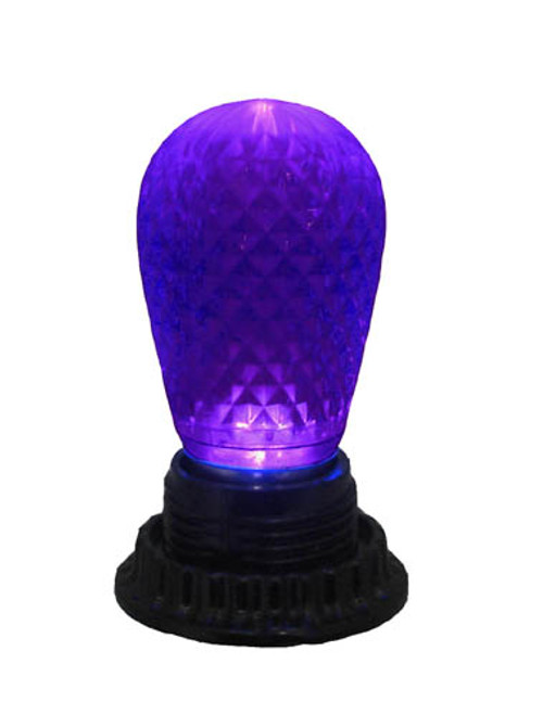 Club Pack of 25 LED Purple Replacement Christmas Light Bulbs - E26 Base - 9566384