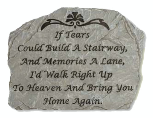 "10.5"" Slate-Look Inspirational Tears in Heaven Decorative Outdoor Patio Garden Stone - 31517212"