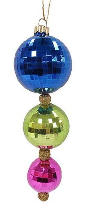"8"" Colorful Disco Ball Trio Christmas Ornament - 5895122"