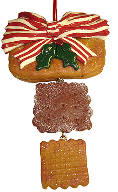 """6"""" Dangling Holly Berry Cookie Christmas Ornament - 5195151"""