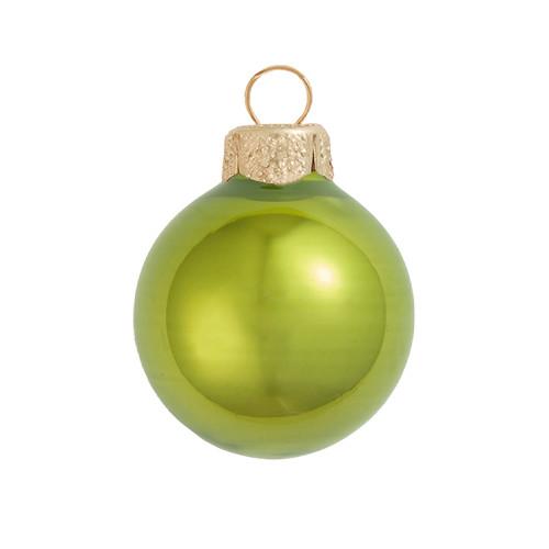 "Pearl Green Kiwi Glass Ball Christmas Ornament 7"" (180mm) - 30940236"