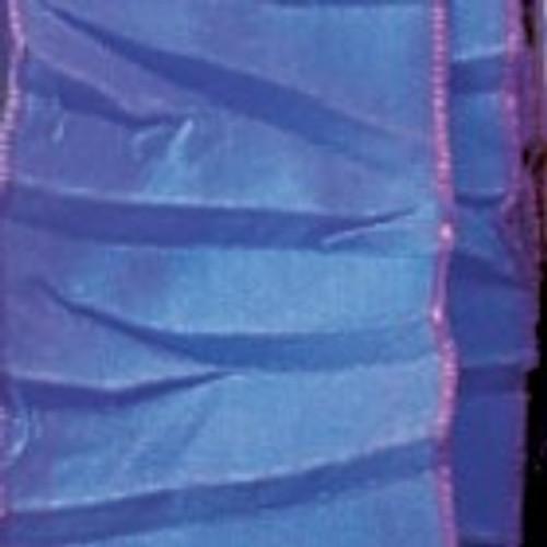 """Purple Gathered Taffeta French Wired Craft Ribbon 1.5"""" x 22 yards - 31389731"""