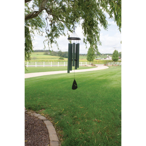 "36"" Evergreen Speckle Outdoor Patio Garden Wind Chime - 15558678"