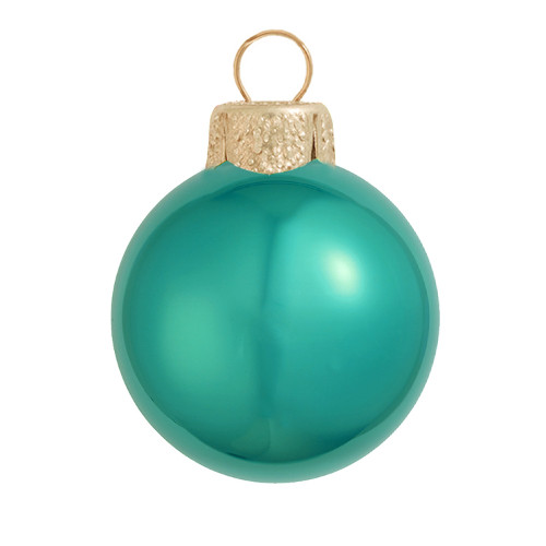 "4ct Pearl Turquoise Blue Glass Ball Christmas Ornaments 4.75"" (120mm) - 30940074"