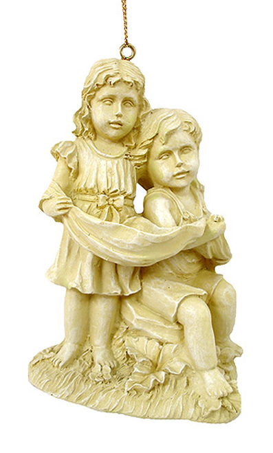 Loving Victorian Boy & Girl Christmas Ornament - 5853299