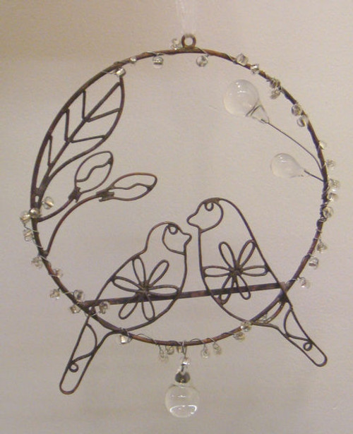 """Set of 3 Antique Style Egyptian Hand Crafted Wire Birds Christmas Ornament 5.75"""" - 31010528"""