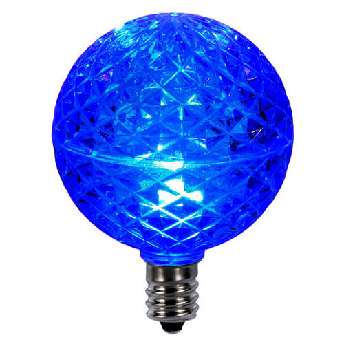 Club Pack of 25 LED G50 Blue Replacement Christmas Light Bulbs - E12 Base - 30861508
